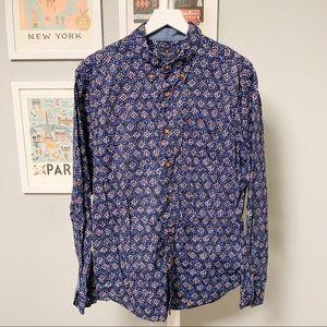American Eagle Print Design Button-Down Shirt XL